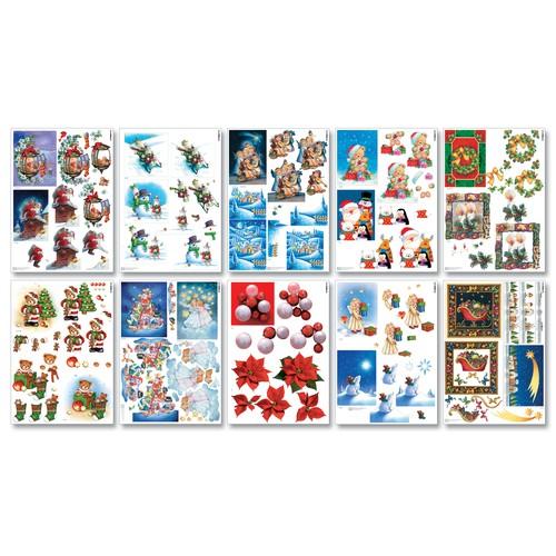 Folia 3d motivbogenblock bastelset weihnachten 20 bogen for Bastelset weihnachten