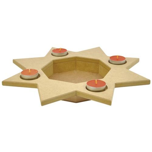 sunnysue sternenteller teelichthalter weihnachten ebay. Black Bedroom Furniture Sets. Home Design Ideas