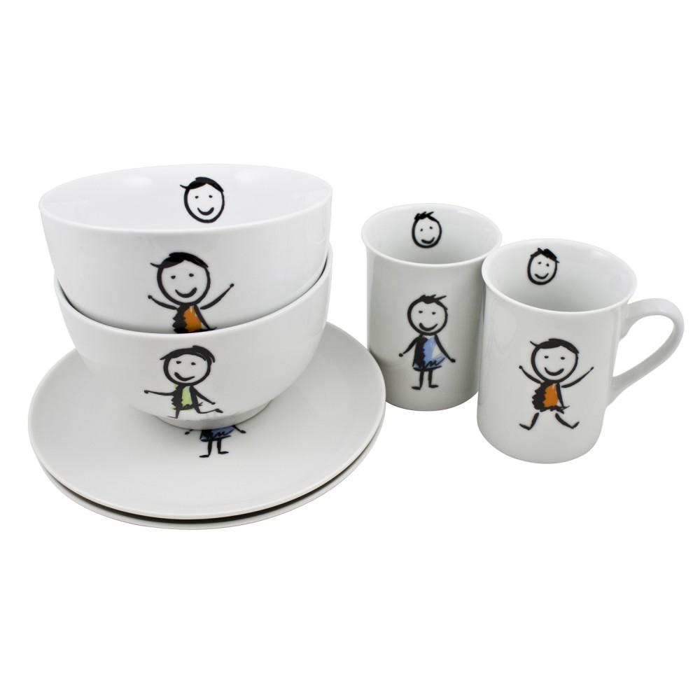 retsch arzberg kindergeschirr set 3 teilig porzellan im geschenkkarton ebay. Black Bedroom Furniture Sets. Home Design Ideas