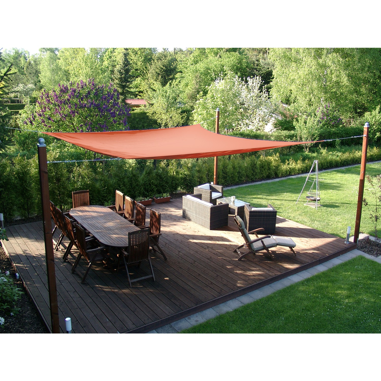 sonnensegel wasserabweisend sonnensegel wasserabweisend rechteck 4 x 6 m creme wei sonnensegel. Black Bedroom Furniture Sets. Home Design Ideas
