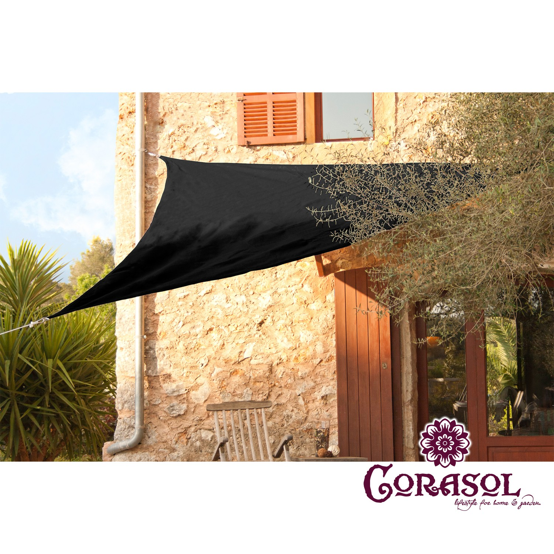 corasol premium sonnensegel dreieck 90 quadrat rechteck garten sonnendach ebay. Black Bedroom Furniture Sets. Home Design Ideas