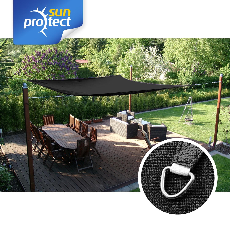 sunprotect sonnensegel dreieck 90 quadrat rechteck sonnenschutz beschattung ebay. Black Bedroom Furniture Sets. Home Design Ideas