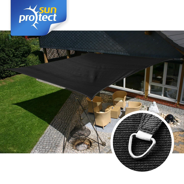 sunprotect sonnensegel viereck quadrat rechteck sonnenschutz wasserdurchl ssig ebay. Black Bedroom Furniture Sets. Home Design Ideas
