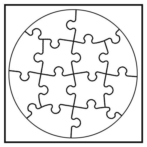joypac white line puzzle kreis zum selbst bemalen wei 6. Black Bedroom Furniture Sets. Home Design Ideas