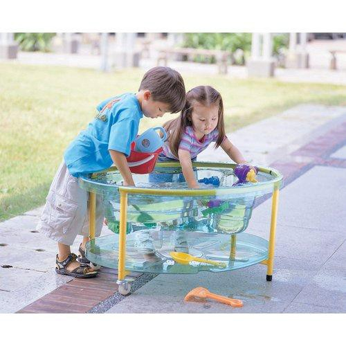 weplay kt2001 00c mobiler sand wasser spieltisch mit deckel transparent 1 st ck. Black Bedroom Furniture Sets. Home Design Ideas