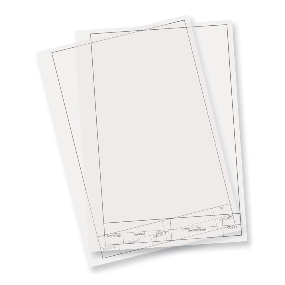 folia arbeitsbl tter technisches zeichnen 80g m din a4 10 blatt transparent. Black Bedroom Furniture Sets. Home Design Ideas