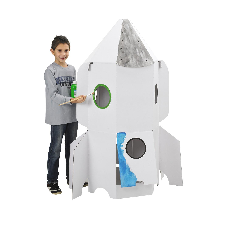 joypac white line karton raumschiff zum aufbauen und bemalen spielzeug basteln malen malen. Black Bedroom Furniture Sets. Home Design Ideas