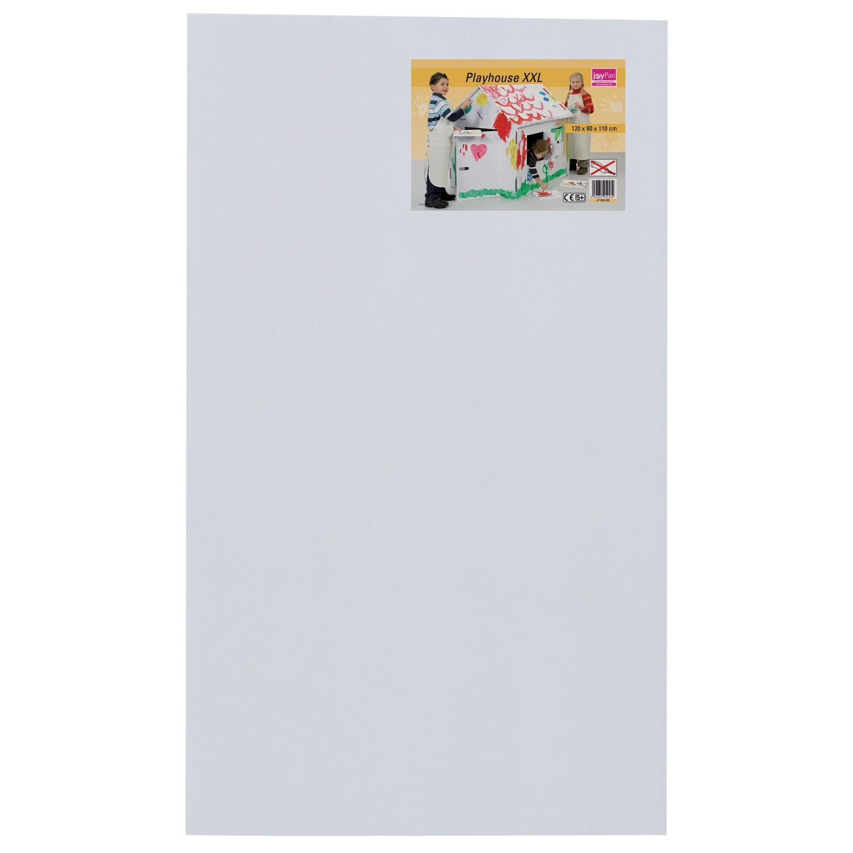 joypac white line karton spielhaus xxl zum aufbauen und bemalen wei 1 st ck. Black Bedroom Furniture Sets. Home Design Ideas