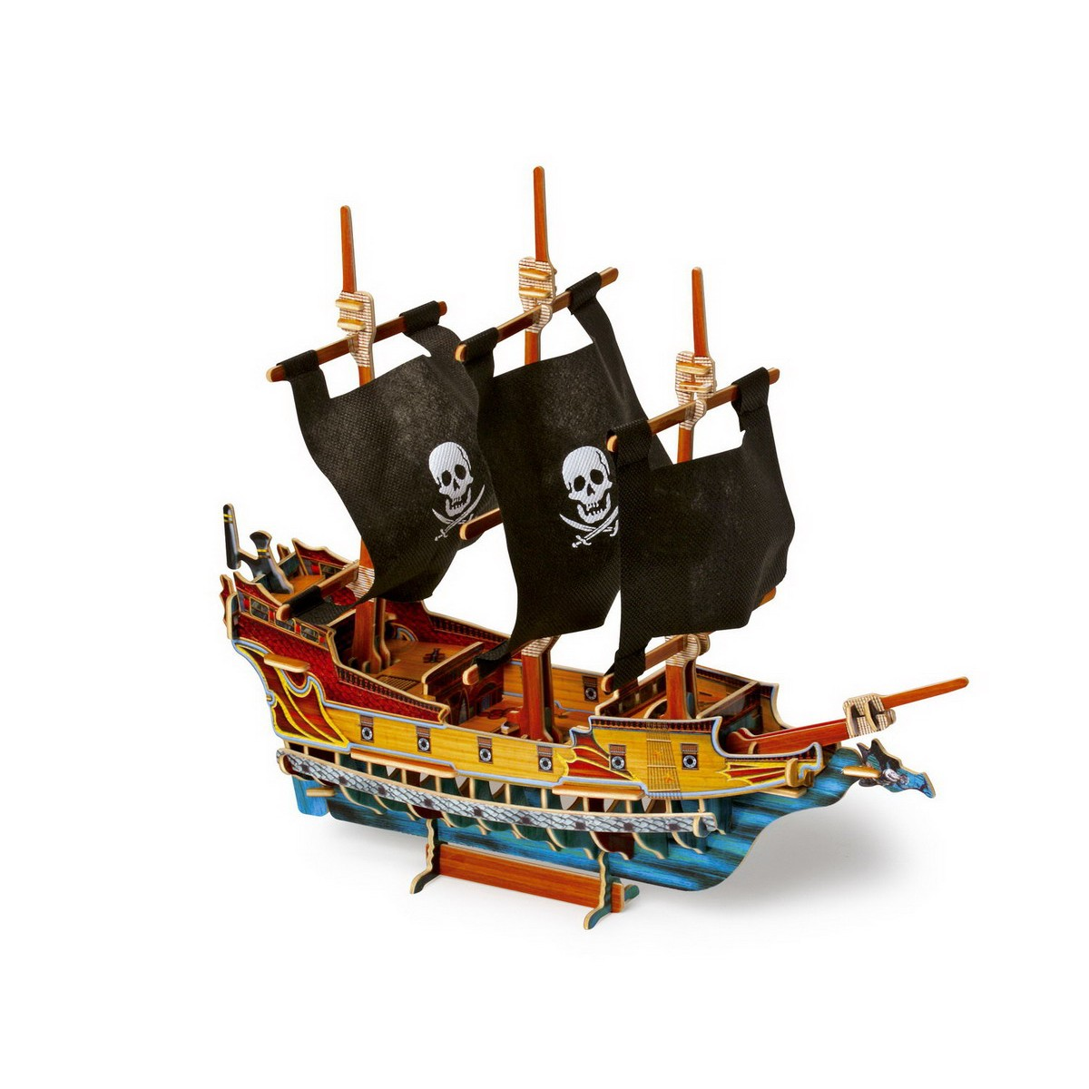 small foot 1404 3d puzzle piratenschiff aus holz mehrfarbig. Black Bedroom Furniture Sets. Home Design Ideas