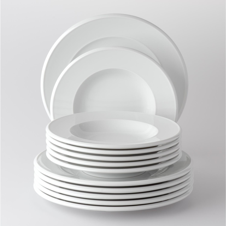 kombiservice 30 teilig novo rund porzellan wei uni von retsch arzberg g nstig bei yovivo. Black Bedroom Furniture Sets. Home Design Ideas