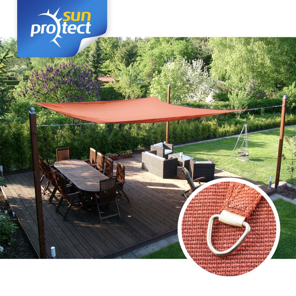 sunprotect Sonnensegel Dreieck 90° Quadrat Rechteck ☼ Sonnenschutz Beschattung