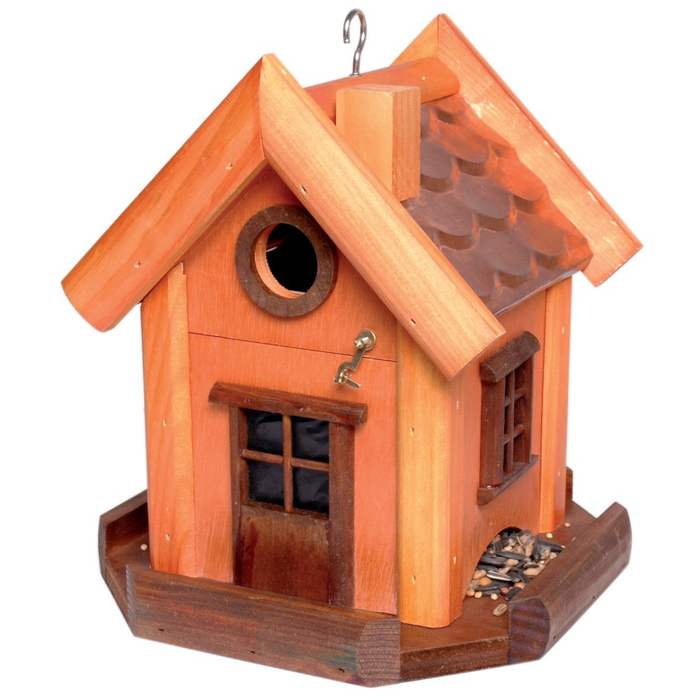 vogelvilla vogelhaus vogel futterstation futtersilo aus holz garten dekoration ebay. Black Bedroom Furniture Sets. Home Design Ideas