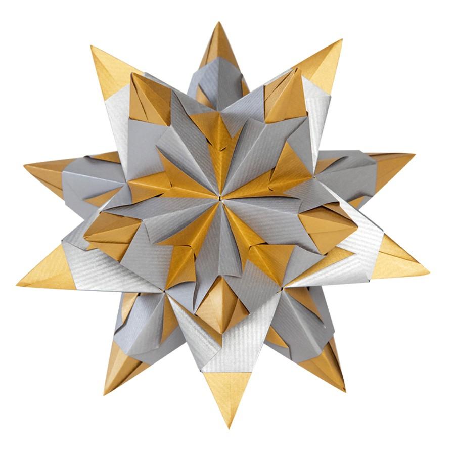 folia bascetta stern weihnachtsstern 3d origamistern faltbl tter bastelset ebay. Black Bedroom Furniture Sets. Home Design Ideas