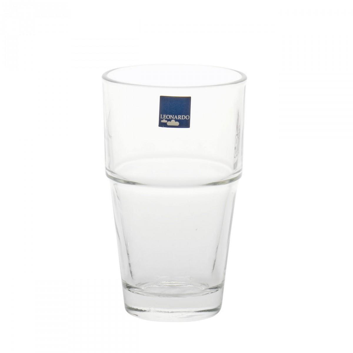 leonardo 043400 latte macchiato wasser becher solo glas 400ml h 14cm transparent 1 st ck. Black Bedroom Furniture Sets. Home Design Ideas