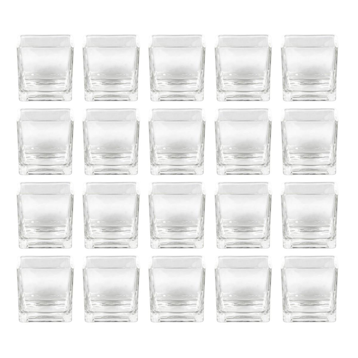 Sandra rich rf 75 75 cube vase windlicht cube w rfel for Glas beistelltische eckig